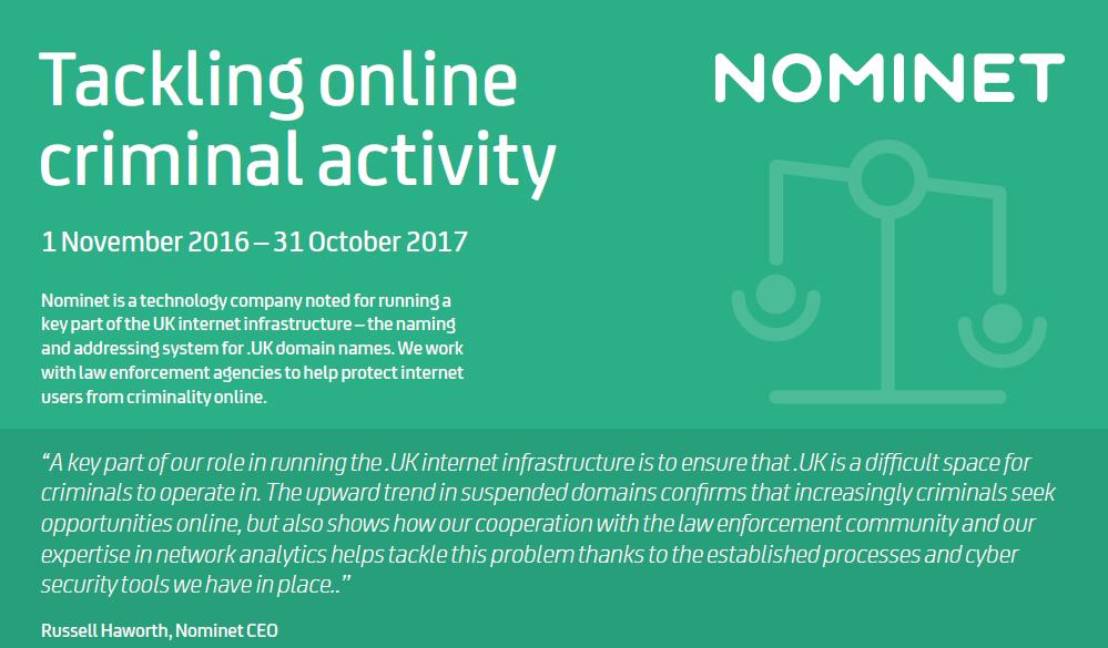 Tackling online criminal activity
