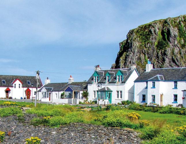 white houses on the coast