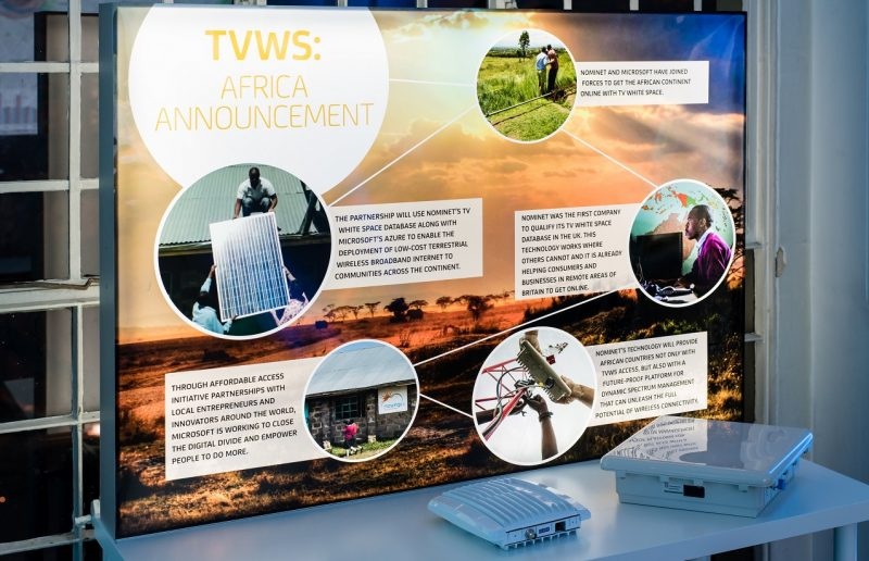 TVWS board at Nominet showcase