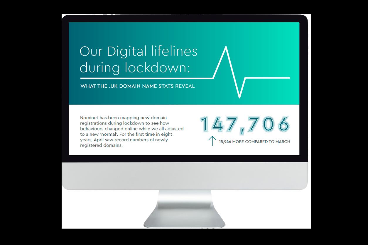Desktop screen promoting Our Digital lifelines during lockdown